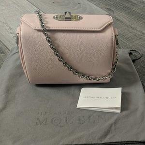Alexander Mcqueen box bag in blush pink